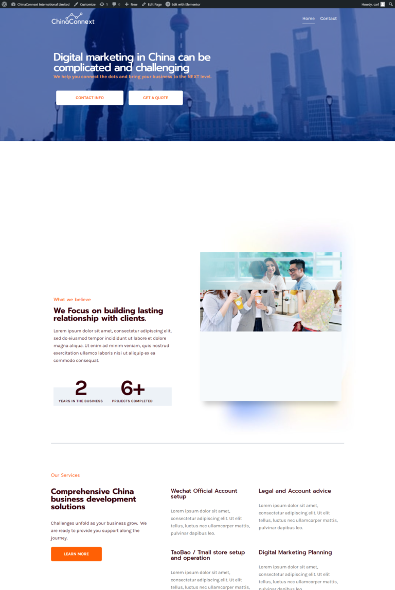 chinaconnext-successful case china marketing website design